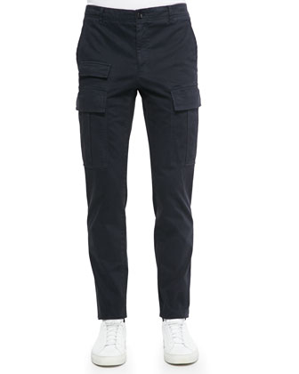 Sateen Flight Pants, Navy