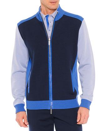 Colorblock Track Jacket, Blue