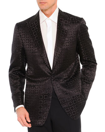 Jacquard Evening Jacket, Black