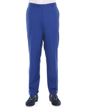 Wool/Cashmere Trousers, Blue