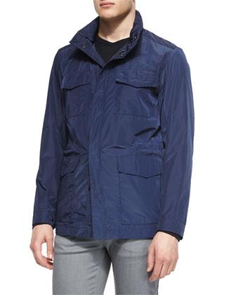 Nylon Field Jacket, Navy