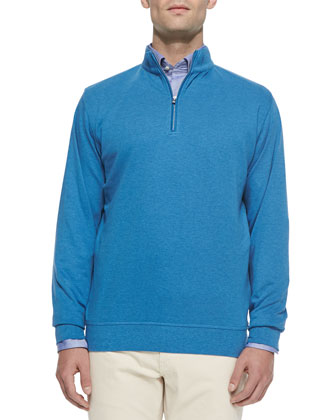 Interlock Quarter-Zip Pullover Sweater, Reflection