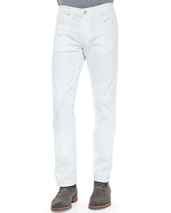 Kane Straight Leg Jeans, White