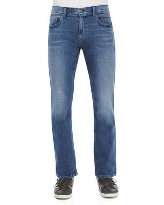 Kane Straight-Leg Jeans, Medium Blue