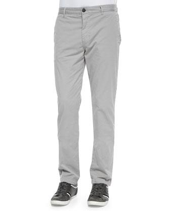Slim-Fit Knit Twill Trousers