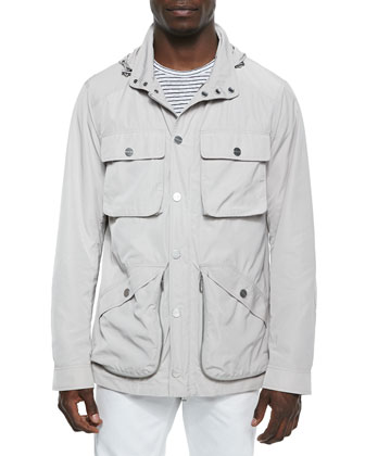 Tech Bellow-Pocket Utility Jacket