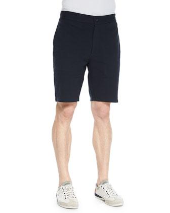 Solid Fleece Shorts, Navy