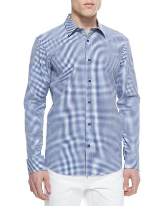 Seith Gingham Sport Shirt, Tidal