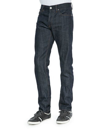 Mariner Reversible Vest, Mesh Long-Sleeve Hoodie & Selvedge Slim Jeans