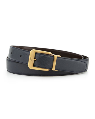 Reversible Belt with 18k Brass Buckle