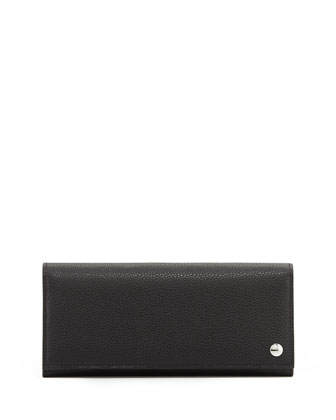 Boston Leather Coat Wallet, Black