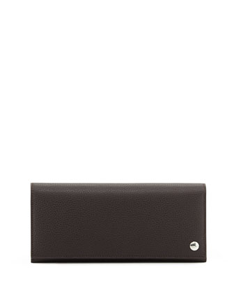 Boston Leather Coat Wallet, Brown