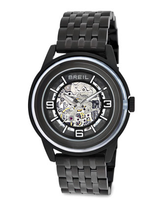 Orchestra Automatic Skeleton Watch, Black
