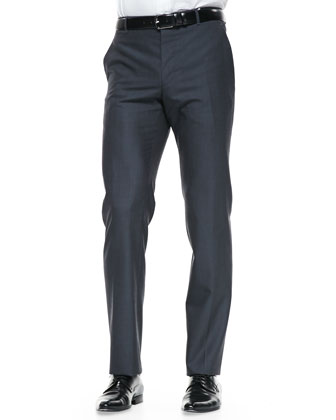 The Byard Wool Trousers, Charcoal