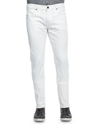 Bowery Slim-Fit Straight Jeans, White