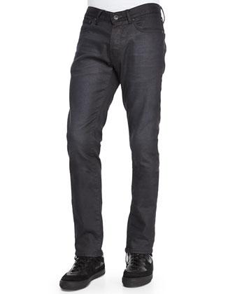 Wight-Fit Denim Jeans, Black
