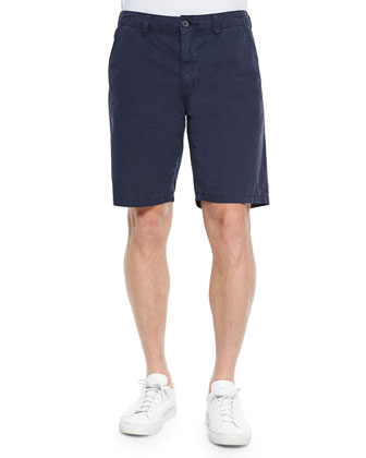 Short-Sleeve Woven Linen Shirt & Woven Cotton Twill Shorts