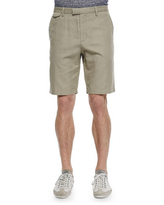 Stretch-Cotton Tailored Shorts