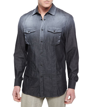 Bowman Long-Sleeve Degrade Western Shirt