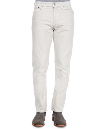 Core Slim Straight Stone Wall Jeans, Light Gray