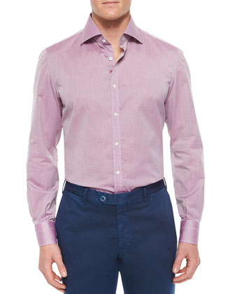 Solid Riva Woven Shirt, Purple