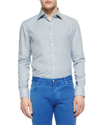 Nylon Safari Vest, Tattersall Neat Woven Sport Shirt & Five-Pocket Slim-Fit ...