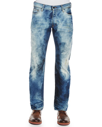 Barracuda Bleached Denim Jeans, Indigo