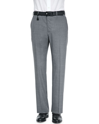 Benson Lightweight Wool Trousers, Medium Gray