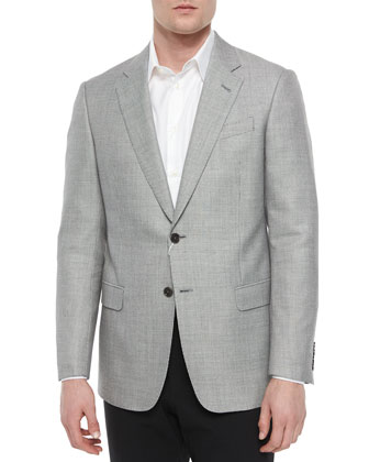 G-Line Dot-Print Sport Coat, Black/White