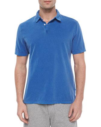 Current Short-Sleeve Polo Shirt, Blue