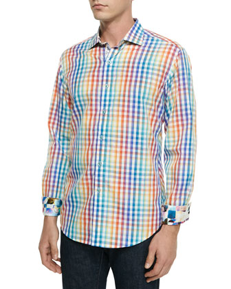 Wellington Check Paisley Sport Shirt, Multi
