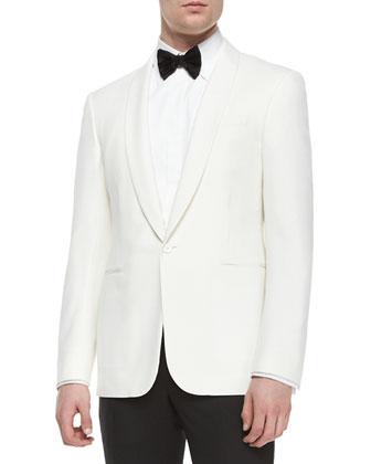 Anthony Shawl-Collar Dinner Jacket, Cream