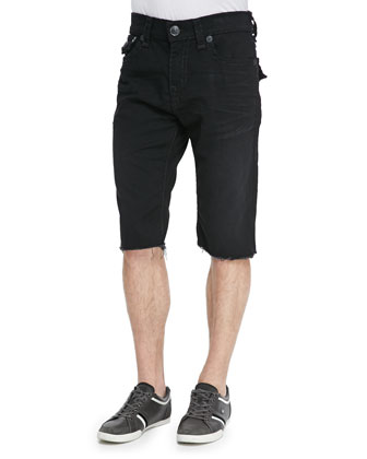 Super T Stretch Denim Shorts