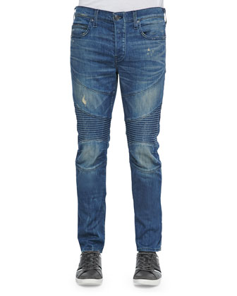 Rocco Moto Slim-Fit Denim Jeans