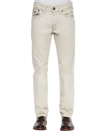 Ricky Straight Twill Super T Jeans, Gray