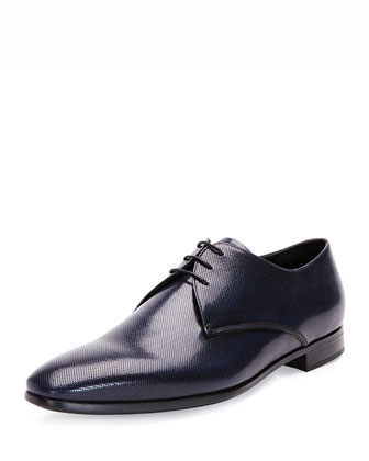 Perforated Spazzolato Lace-Up