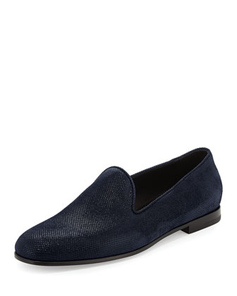 Sueded Formal Slip-On Shoe, Navy