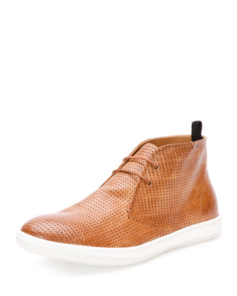 Perforated Sneaker-Style Ankle Boot