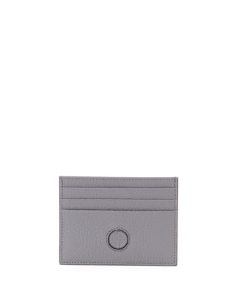 Leather Credit Card Case, Pewter