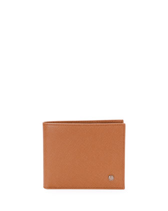 Stamped Saffiano Leather Wallet, Cuoio