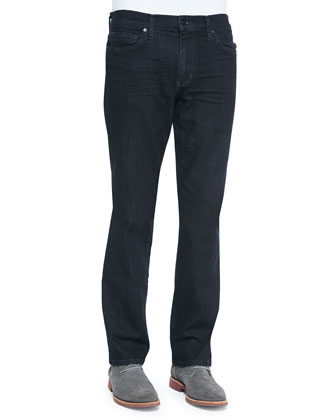 Classic Cullen Tonal Straight-Fit Jeans, Dark Blue