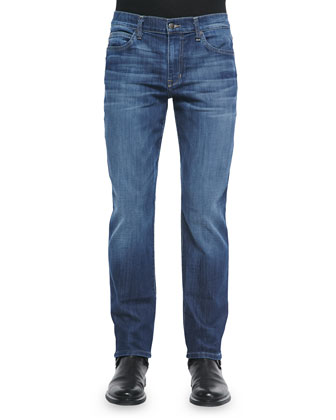 Brixton Rylan Straight Leg Denim, Light Blue