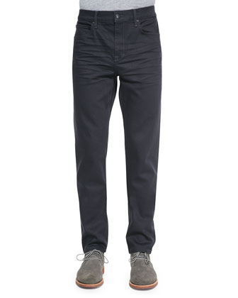 Savile Row Fitted Slim Jeans, Dark Blue