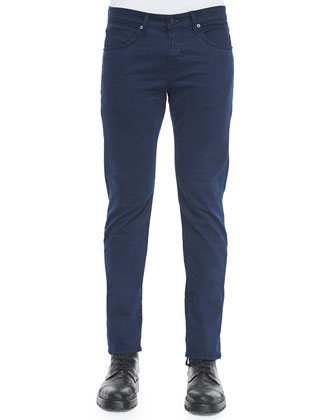 Kane Straight-Leg Crown B Jeans, Navy