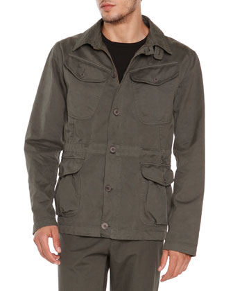 4-Pocket Safari Jacket, Army