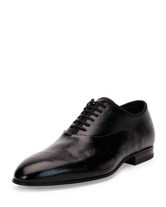 Zutal Calfskin Tuxedo Oxford, Black