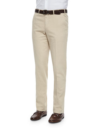 St. Malo Regular-Fit Dyed Pants, Sand
