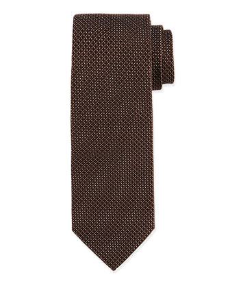 Mini-Dot Pattern Tie, Brown