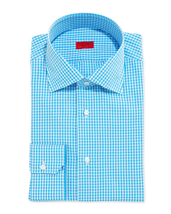 Gingham Dress Shirt, Turquoise