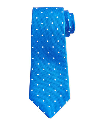 Grenadine Dot Tie, Blue